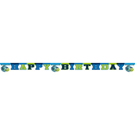 Chaine déco Monsters university en carton - 2,4 m - Multicolore