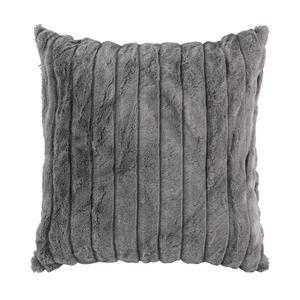 Coussin - 100 % polyester - 40 x 40 cm - Gris