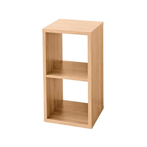 Etagere Cube 2 Cases Marron Meubles De Chambre La Foir Fouille
