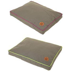 Coussin - Polyester - 90 x 70 cm - Violet ou vert