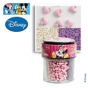 Décorations alimentaires Minnie - Sucre - 88 g - Multicolore