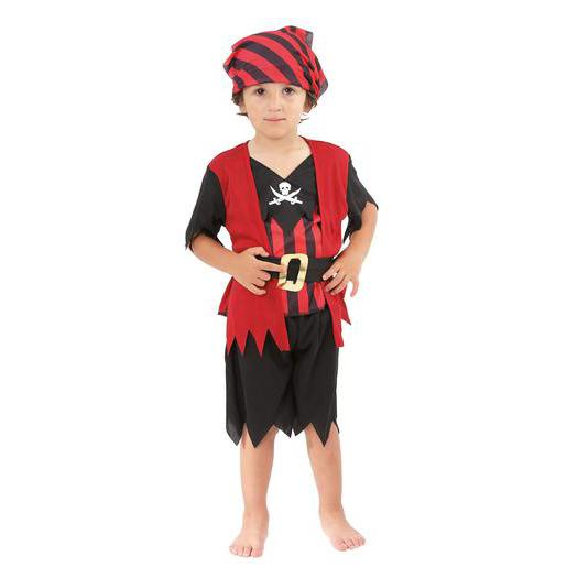 Costume Baby Pirate en polyester - 92 x 104 cm - Multicolore
