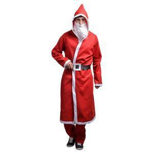 Déguisement de père Noël 3 pièces - Polyester - Taille adulte - Rouge c8765e8cc81