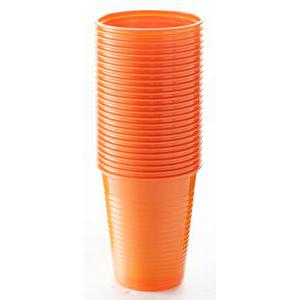 25 gobelets - Plastique - 20 cl - Orange