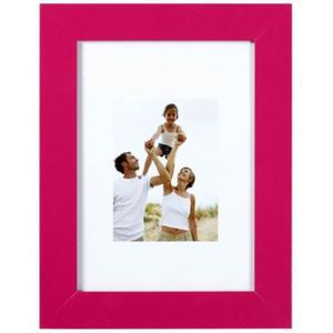 Porte-photo en optimo fuschia et MDF - 19 x 14 cm - rose