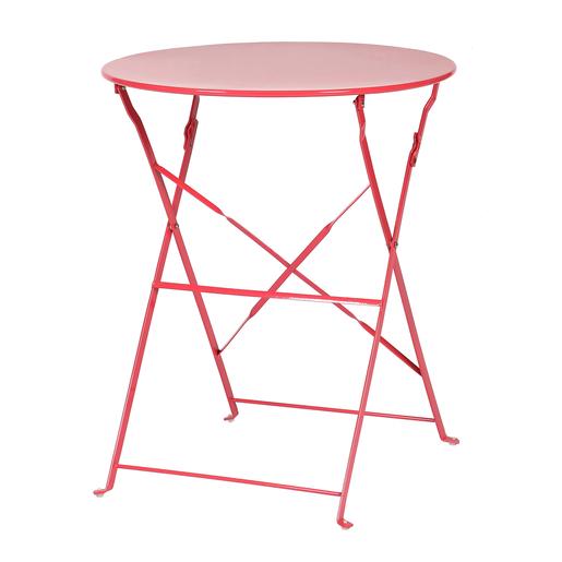 Table pliante - Acier - Rose - Mobilier de jardin | La Foir\'Fouille