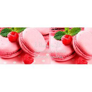 Chassis toile macarons - 20 x 50 cm - Chassis pin - Multicolore