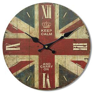 Horloge London - MDF - Ø 33,8 cm - Multicolore