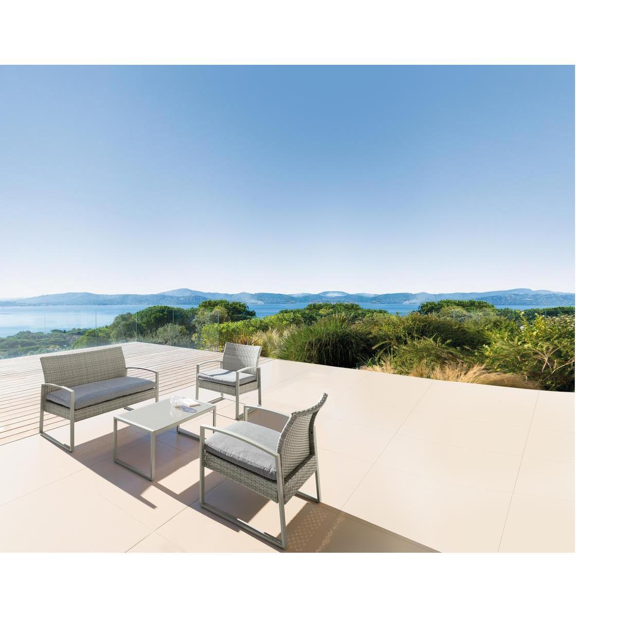 Salon Crete Gris Beige Mobilier De Jardin La Foir Fouille