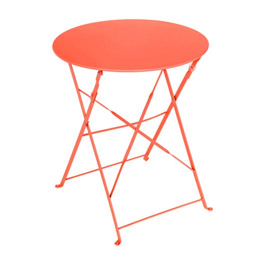 Table Diana ronde - ø 60 x H 71 cm - Orange - Salon de jardin | La ...