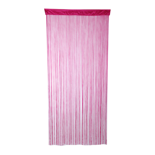 Rideau fils - Polyester - 120 x 240 cm - Rose framboise