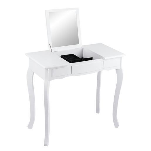 Coiffeuse avec miroir et rangements blanc meubles de chambre la foir 3 - Coiffeuse avec rangement ...