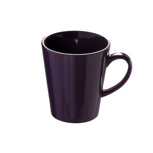 Mug conique en grès - 33 cl - Violet prune