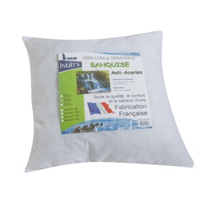 L'oreiller collection Banquise anti-acariens - 60 x 60 cm - Blanc