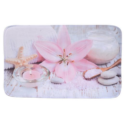 Tapis de bain zen rose accessoires salle de bain la for Accessoire salle de bain zen