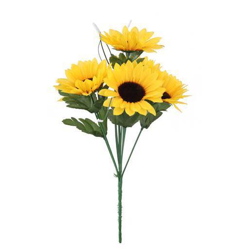 bouquet de tournesol - plastique et polyester - jaune - fleurs