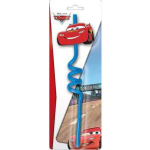 Paille rigide Cars - Plastique - Ø 4 x 21 cm - Multicolore