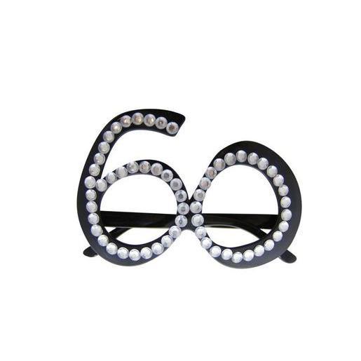 Lunettes 60 en plastique Noir Accessoires carnaval | La