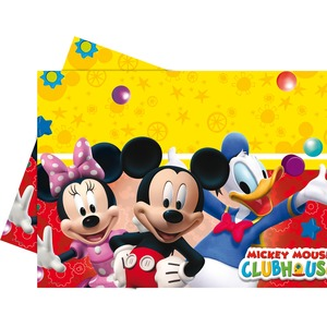 Nappe Playful Mickey en PEBD - 120 x 180 cm - Multicolore