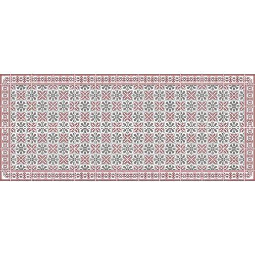 Tapis vinyle - 50 x 120 cm - Rouge et marron - Tapis déco | La Foir ...