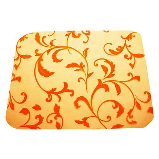 Lot de 4 sets de table à motifs arabesque - Organza - 30 x 40 cm - Orange