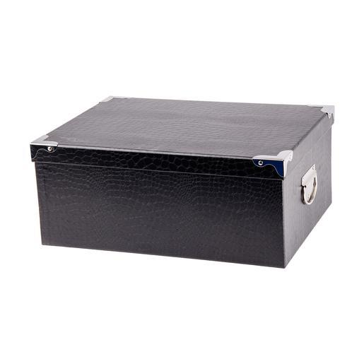 Boîte de rangement - Carton métal - Noir - Objets déco   La Foir ...