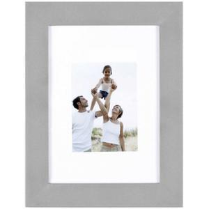 Porte-photo Optimo alu et MDF - 34 x 28 cm - Gris