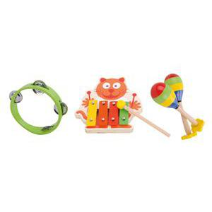 Set musical de 3 jouets - Bois - Multicolore