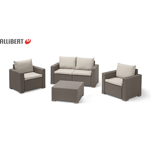Salon California - Marron - Mobilier de jardin | La Foir\'Fouille