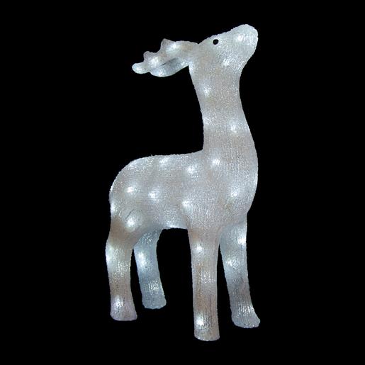 Rennes Noel Lumineux Renne lumineux   Electrique et acrylique   Blanc   Décoration