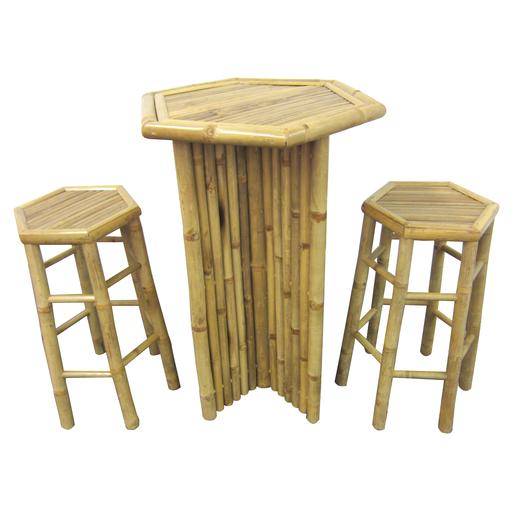 Tabouret haut Bambou - Salon de jardin | La Foir\'Fouille