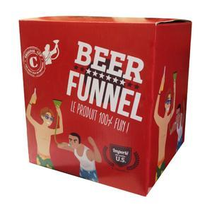 Beer funnel - Plastique - Rouge - 10 x 10 cm