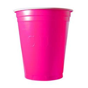 20 gobelets à Beer Pong 53 cl - Plastique - Rose - 350 g