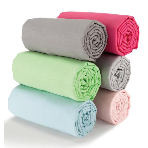 Drap housse   Polyester   Coton   Différents coloris   Draps
