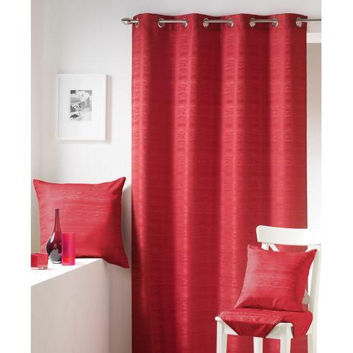 Rideau jacquard - 100 % polyester - 140 x 240 cm - Rouge