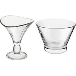 8 coupes à glace - Verre - 25 cl - Transparent