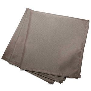 3 serviettes de table unies Essentiel - L 40 x l 40 cm - Marron