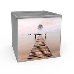 Cube De Rangement Tissu Non Tisse Gris Marron Rangement Tissu La Foir Fouille