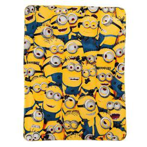 Plaid Minions - 100 % polyester - 110 x 140 cm - Multicolore