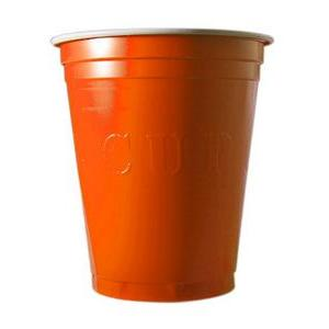 20 gobelets à Beer Pong 53 cl - Plastique - Orange - 350 g
