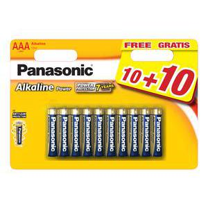Lot de 20 piles Panasonic - LR 3 - Multicolore