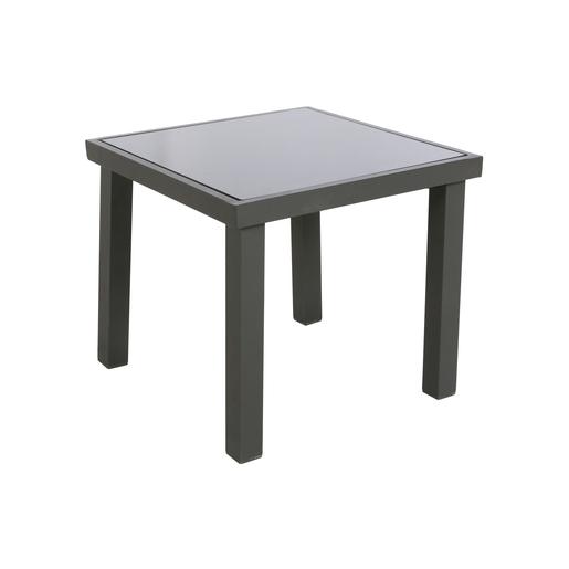 Table d\'appoint Piazza - Gris - Salon de jardin | La Foir\'Fouille