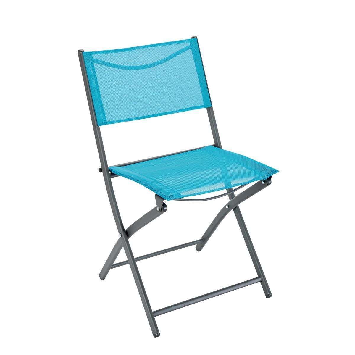 Chaise Nouméa - Gris, bleu - MOOREA - Mobilier de jardin  La Foir