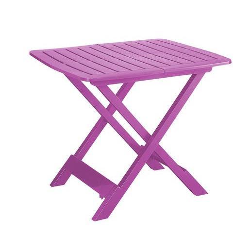 Table pliante - Polypropylène - Rose - Salon de jardin | La Foir\'Fouille