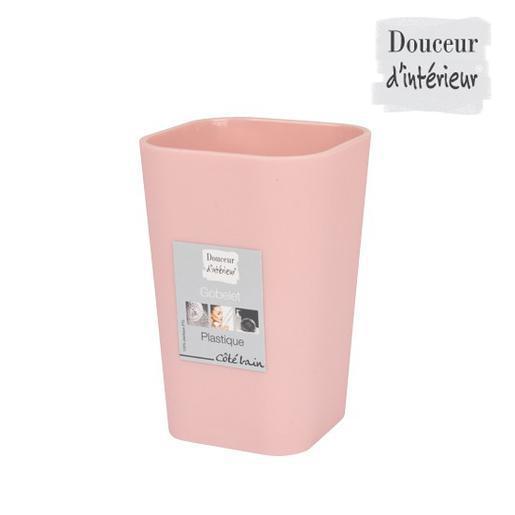 Gobelet - Plastique - Rose - Accessoires salle de bain | La Foir ...