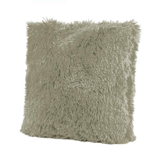 Coussin Shaggy - 100 % Polyester - 40 x 40 cm - Taupe