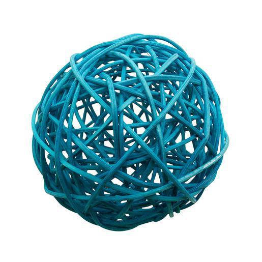 Boule Decoration.Boule Décorative Rotin Bleu Décoration Mariage La